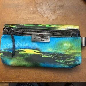 Longchamp long zippered pouch